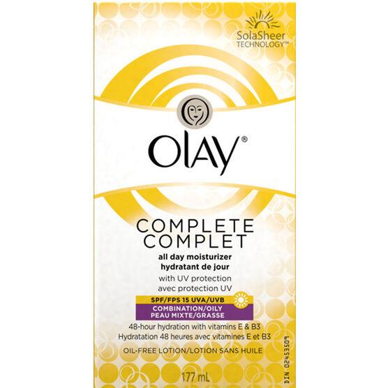 Olay Complete Moisturizer - SPF15 - Combination/Oily - 177ml