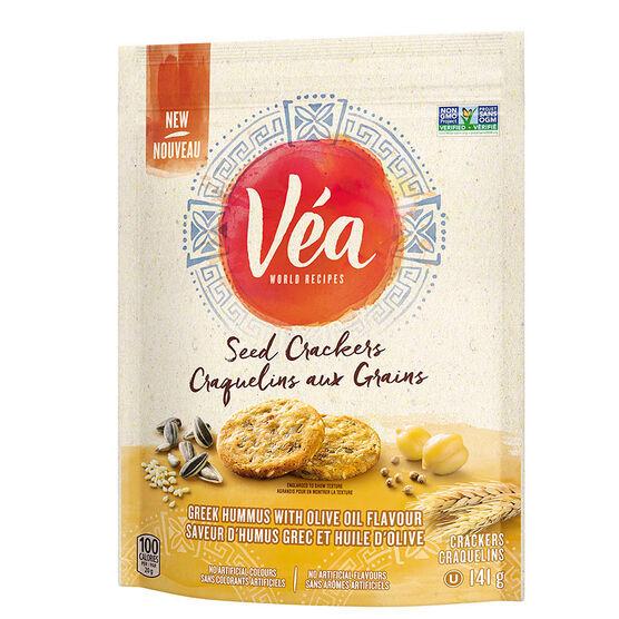 Vea Seed Crackers - Greek Hummus & Olive Oil - 141g