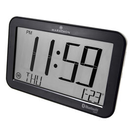 Marathon Atomic Blue Tooth Clock - Graphite - CL800001GH