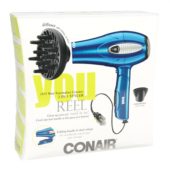 conair high torque folding handle cord reel dryer ceramic 264c london drugs. Black Bedroom Furniture Sets. Home Design Ideas