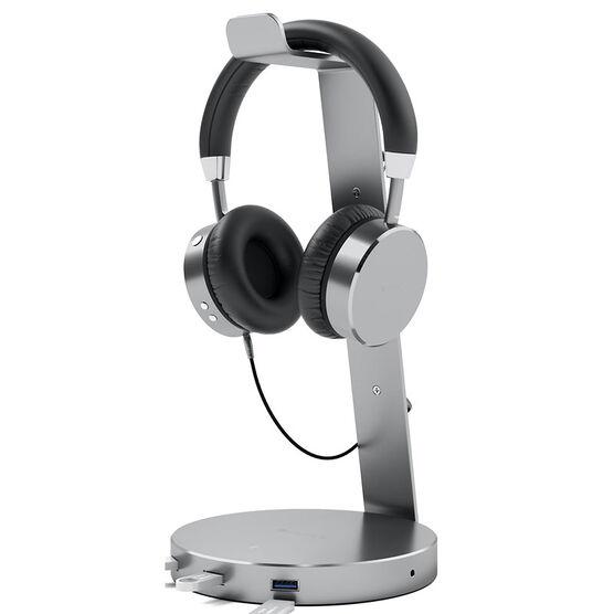 Satechi Headphone Stand With Built In USB 3.0 Hub - Space Grey - ST-AHSHU3