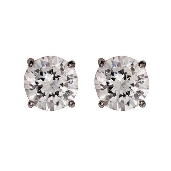 Nine West Silver Crystal Earrings