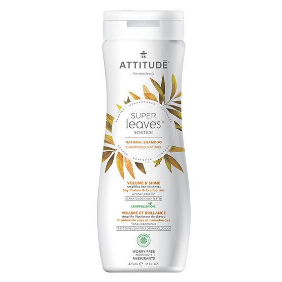 Attitude Super Leaves Science Natural Shampoo - Volume & Shine - 473ml
