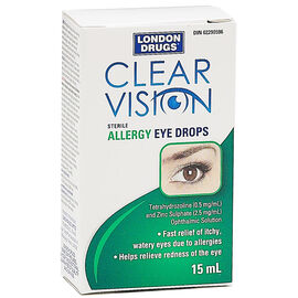 London Drugs Clear Vision Allergy Eyedrops - 15ml