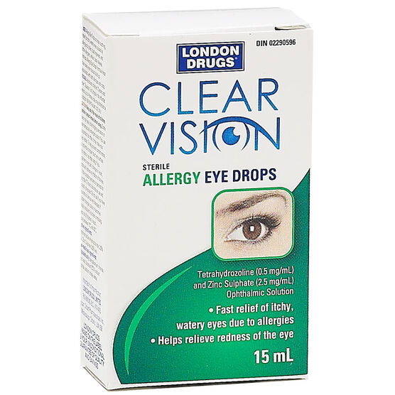 London Drugs Clear Vision Allergy Eyedrops - 15ml