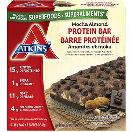 Atkins Protein Bar - Mocha Almond - 5 x 48g