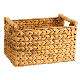 London Drugs Water Hyacinth Basket with Cane Handles