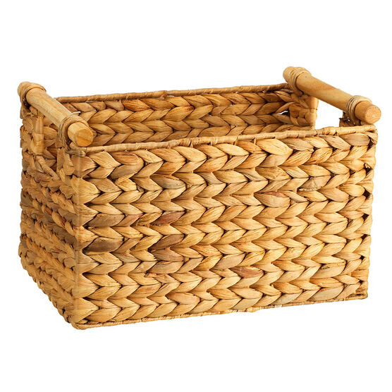 London Drugs Water Hyacinth Basket with Cane Handles - Small