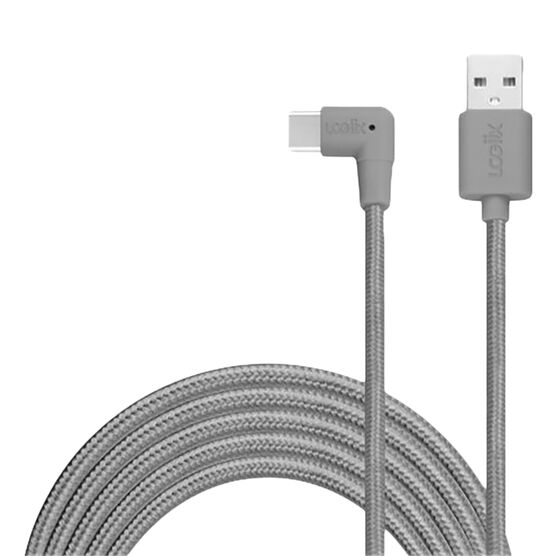 Logiix Piston Connect XL90 USB-C Cable - Graphite - LGX12615