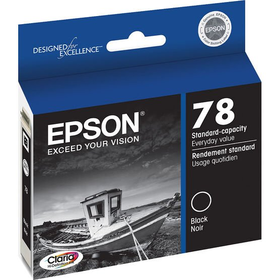 Epson 78 Claria Hi-Definition Ink 78 Standard-Capacity Colour Ink Cartridge - Black - T078120-S