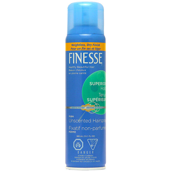 Finesse Firm Hold Unscented Aerosol Hairspray - 300ml
