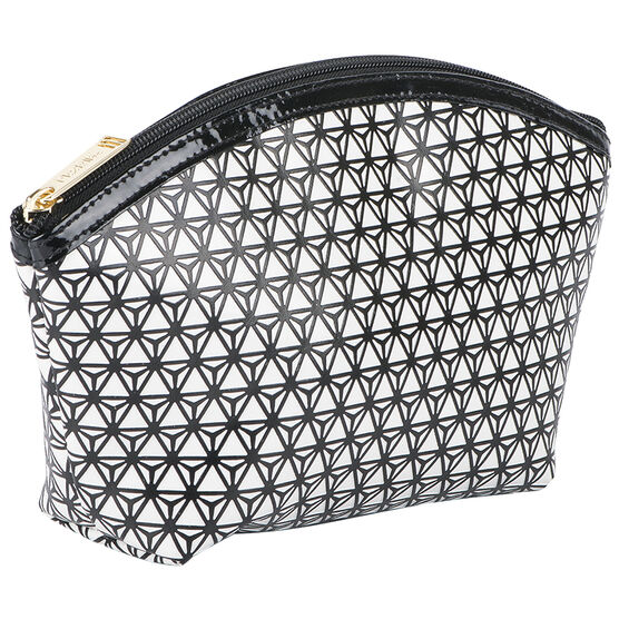 Modella Modern Black & White Round Top Clutch - A000336LDC