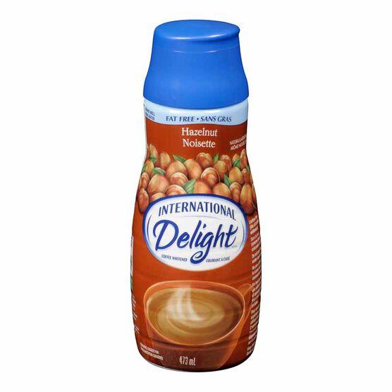 International Delight Fat Free Coffee Whitener - Hazelnut- 473ml