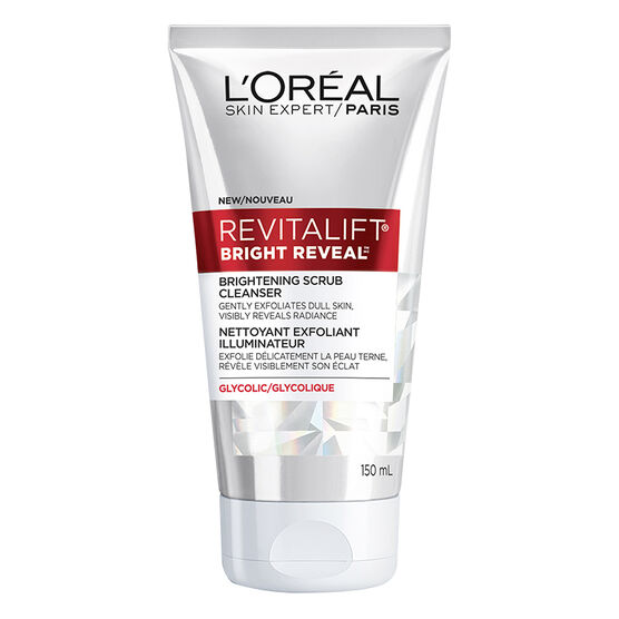 L'Oreal Revitalift Bright Reveal Brightening Scrub Cleanser - 150ml