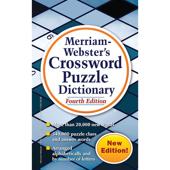 Merriam-Webster's Crossword Puzzle Dictionary: Fourth Edition
