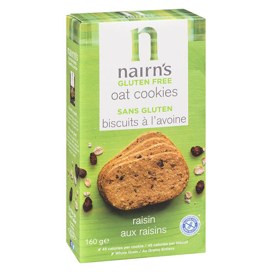 Nairns Gluten Free Oatmeal Cookies - Raisin - 160g