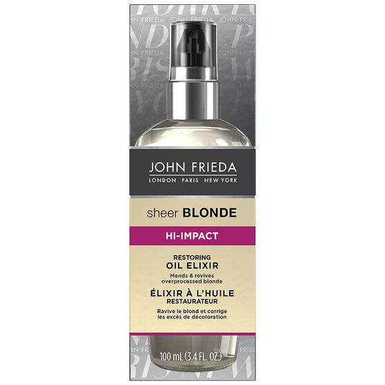 John Frieda Sheer Blonde Hi-Impact Oil Elixir - Restoring - 100ml