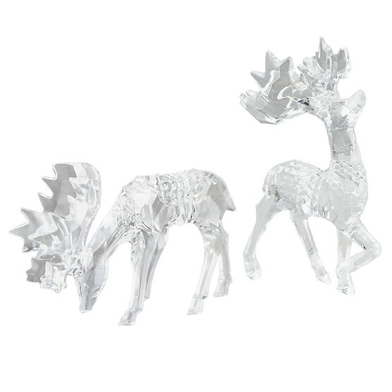 Polar Ice Moose Ornament - Clear - 5.5 x 3.5in