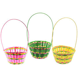 Easter Bamboo Basket - 8in