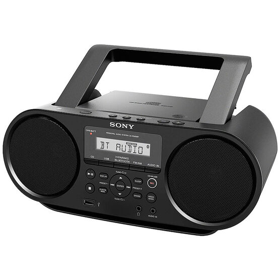 Sony Compact Bluetooth NFC Boombox - Black - ZSRS60BT