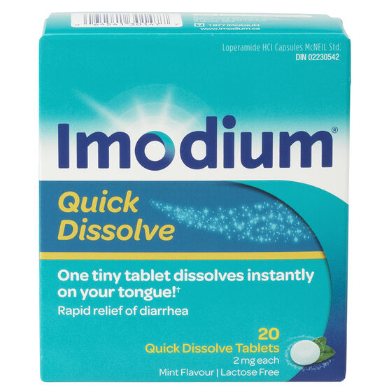 Imodium Quick Dissolve Tablets - 20's