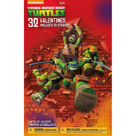 Plus Mark Teenage Mutant Ninja Turtles Valentine's Day Cards - 32 pack