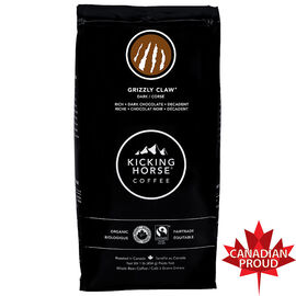 Kicking Horse Coffee Grizzly Claw - Dark Roast - Whole Bean - 454g