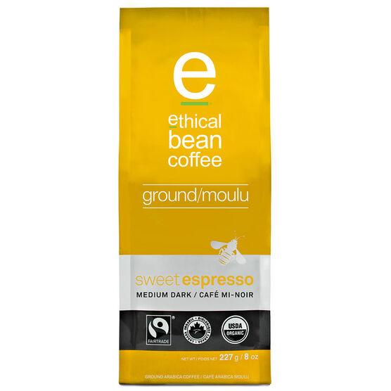 Ethical Bean Ground Coffee - Sweet Espresso - Medium Dark - 227g