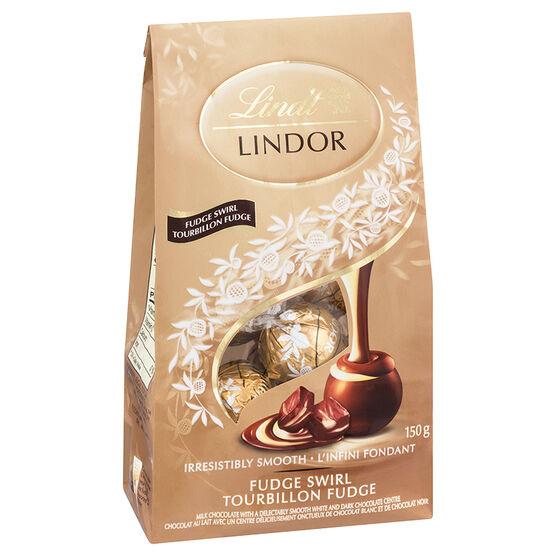 Lindt Lindor Bag - Fudge Swirl - 150g