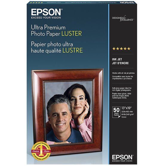 Epson Ultra Premium Photo Paper - Luster - 50 sheets - 13 x 19-inch - S041407
