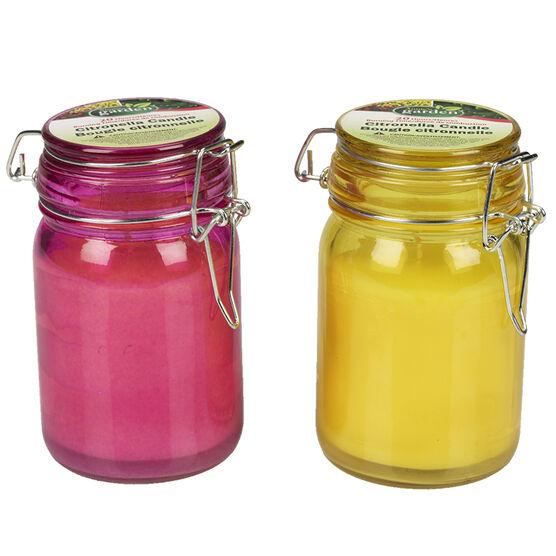 Mason Jar Citronella Candle - 4.5in