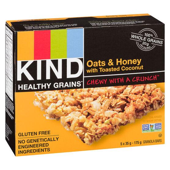 Kind Healthy Grains Bar - Oats and Honey - 5 x 35g