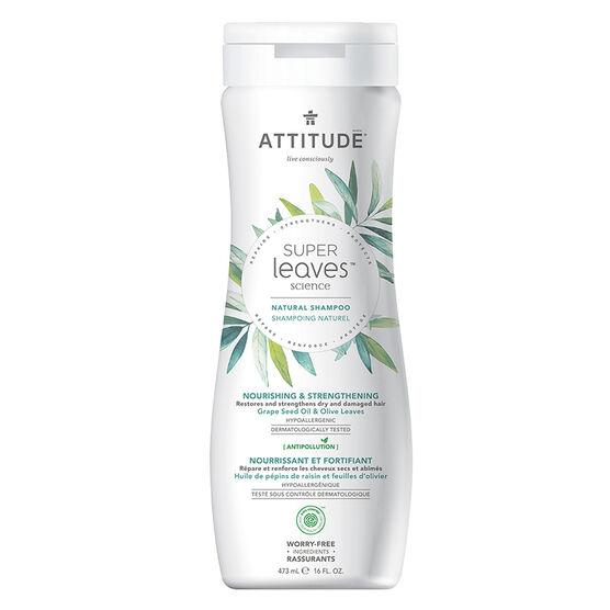 Attitude Super Leaves Science Natural Shampoo - Nourishing & Strengthening - 473ml