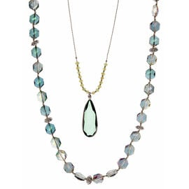 Lonna Lilly 2in1 Pendant Necklace - Green