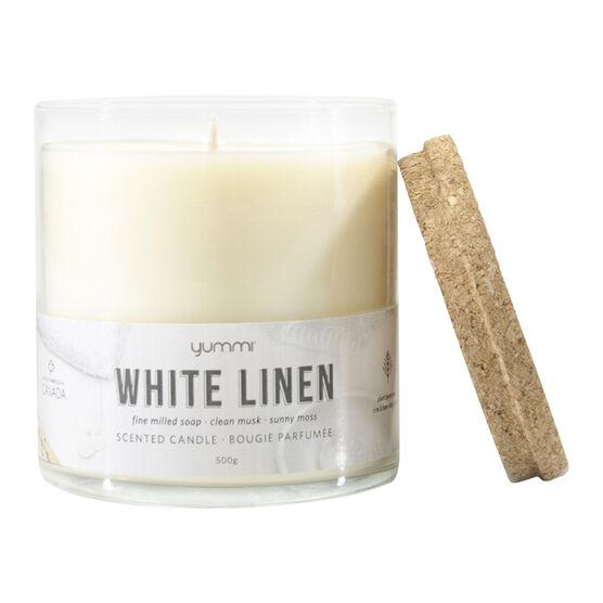 Yummi Jar Candle - White Linen - 18oz