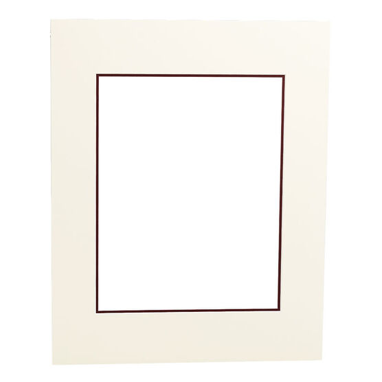 Tempo 16x20 Mat Frame - Ivory/Maroon