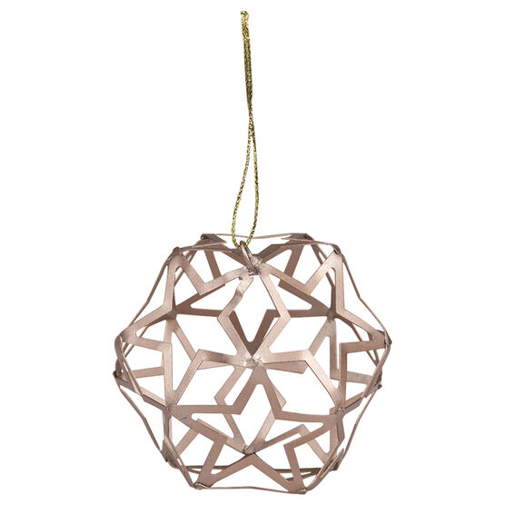 Christmas Cut Out Ball Ornament - Pink - 8cm