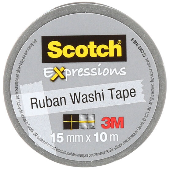 3M Scotch Expressions Washi Tape - Silver