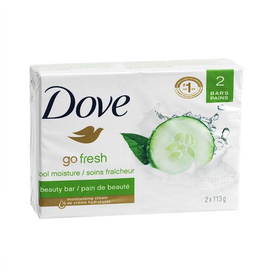 Dove Go Fresh Cool Moisture Beauty Bar - Cucumber & Green Tea - 2 x 113g