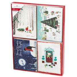 American Greetings Christmas Cards - Mini Up 1 - Assorted - 20 count