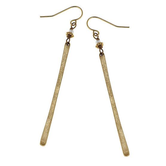 Canvas Matchstick Earrings - Gold