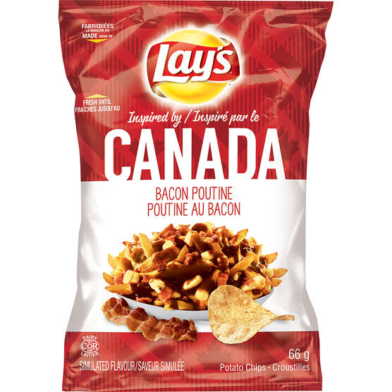 Lays Potato Chips - Bacon Poutine - 66g