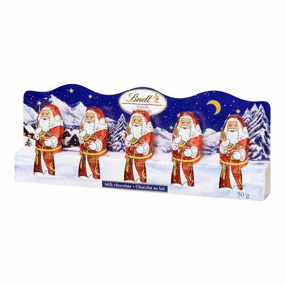 Lindt Milk Chocolate Mini Santas - 50g/5 pack