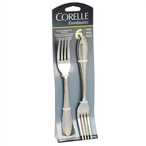 Corelle Irmi Mirror Dinner Fork - 18/0 - 6 piece set
