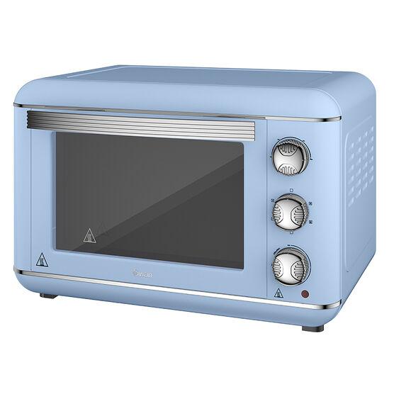 Swan Retro Mini Oven - Blue - 1500W