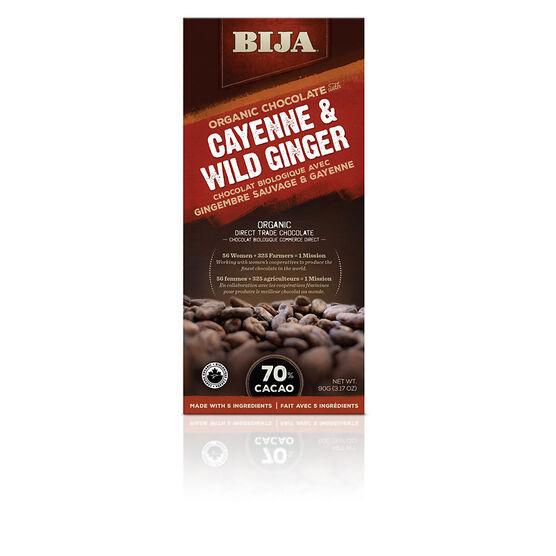 Bija Organic Chocolate - Cayenne & Wild Ginger - 90g