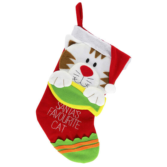 Christmas Forever Pet Stocking - Cat - 19in