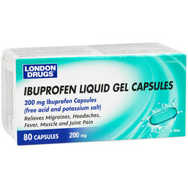 London Drugs Ibuprofen Liquid Gel Caps - 200mg - 80's