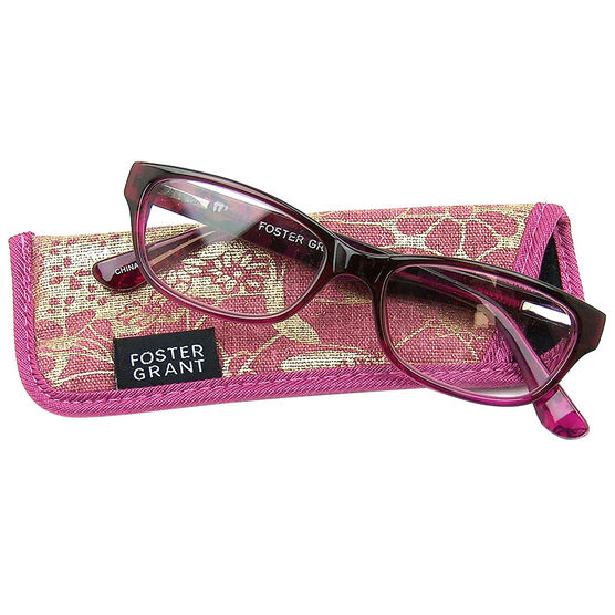 Foster Grant Carletta Pink Reading Glasses - 2.00