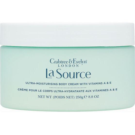 Crabtree & Evelyn La Source Ultra-Moisturising Body Cream with Vitamins A & E - 250g
